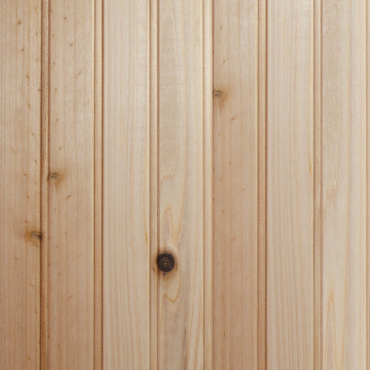 Global Product Sourcing 3-1/2 In. W. x 8 Ft. L. x 5/16 In. Thick Knotty Cedar Reversible Profile Wall Plank (6-Pack)