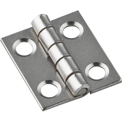 National 3/4 In. X 5/8 In. Satin Nickel Narrow Hinge (4-Pack)