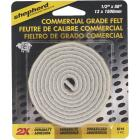 Shepherd 1/2 In. x 58 In. Beige Self-Adhesive Commercial Grade Felt Strip Image 2