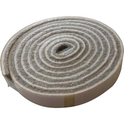 Shepherd 1/2 In. x 58 In. Beige Self-Adhesive Commercial Grade Felt Strip