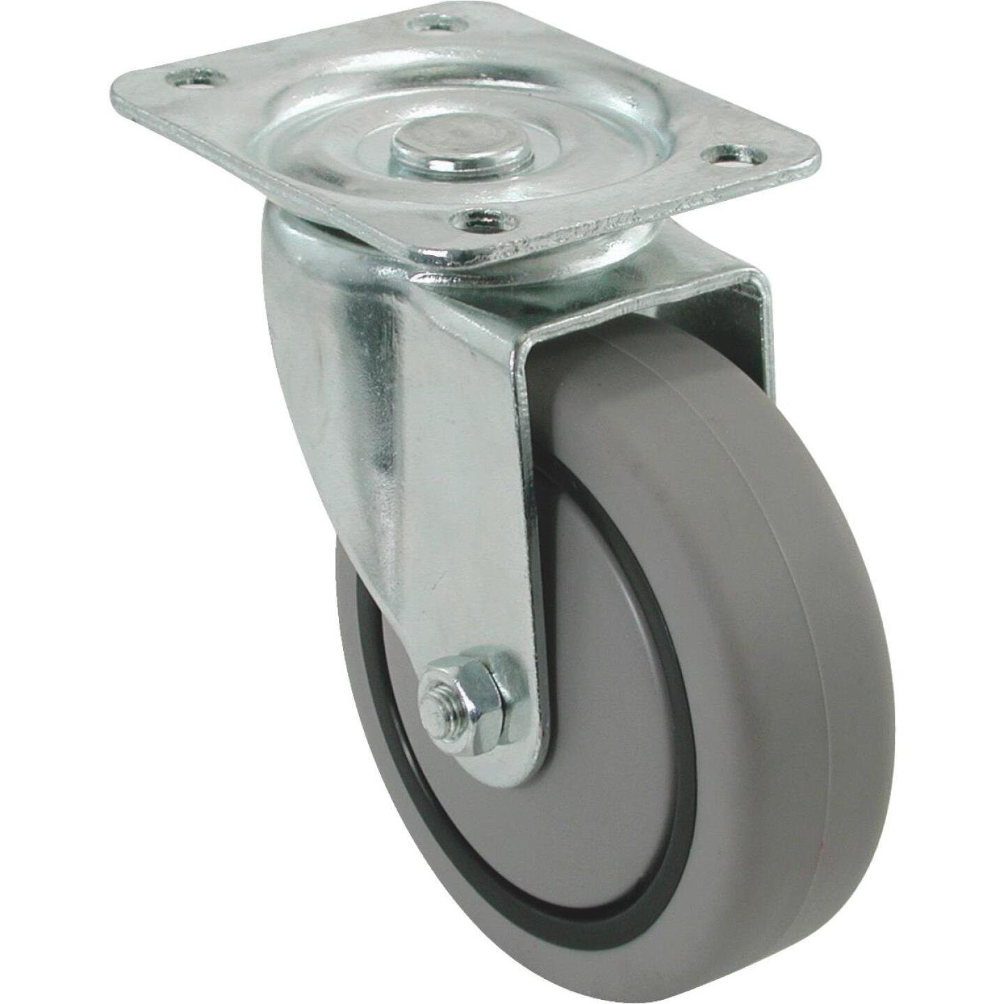 Shepherd 4 In. Thermoplastic Swivel Plate Caster Image 1