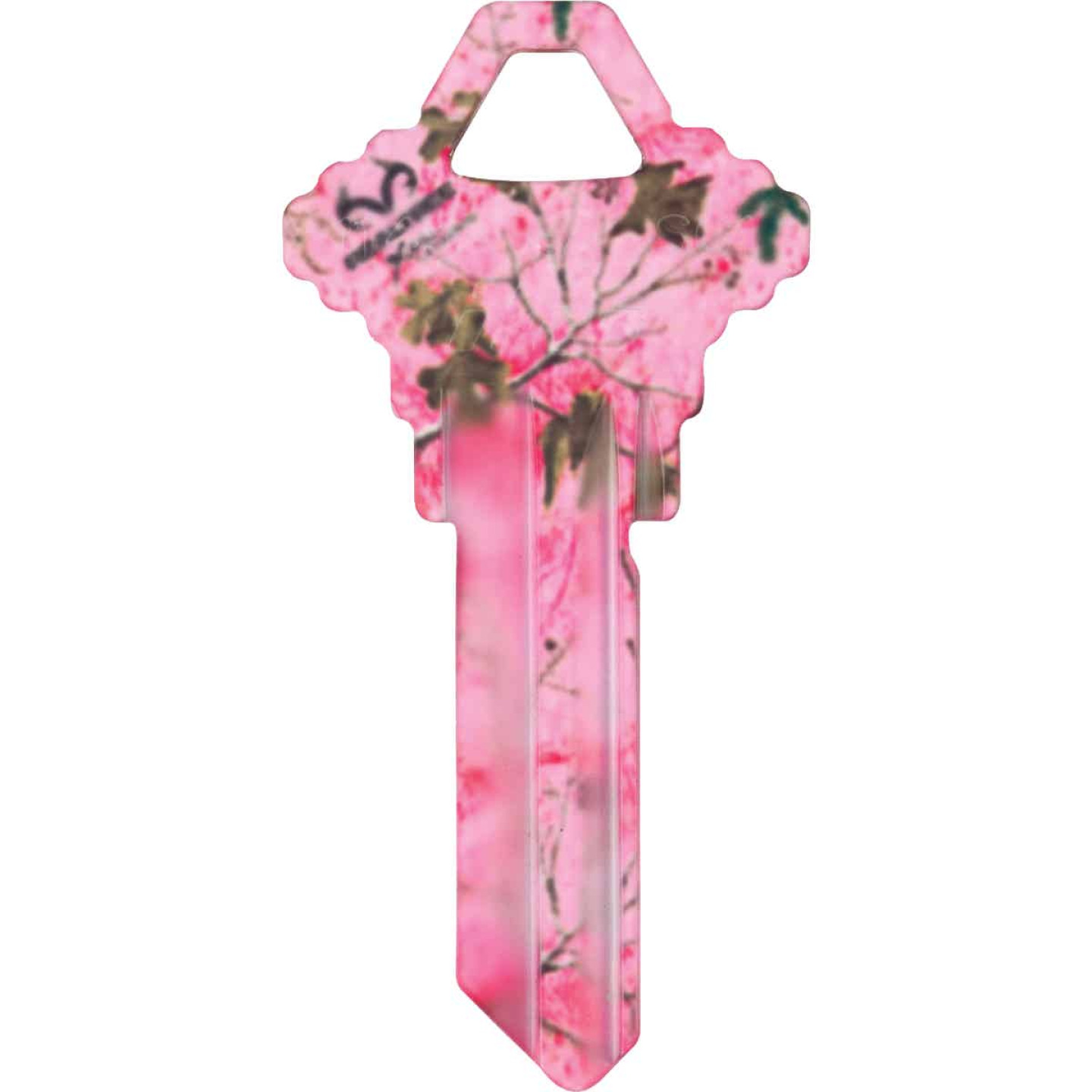 ILCO Schlage Realtree Paradise Pink Camo Design Decorative Key, SC1  Image 1