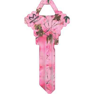 ILCO Schlage Realtree Paradise Pink Camo Design Decorative Key, SC1