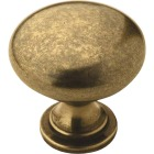 Amerock Allison Burnished Brass 1-1/4 In. Cabinet Knob Image 1