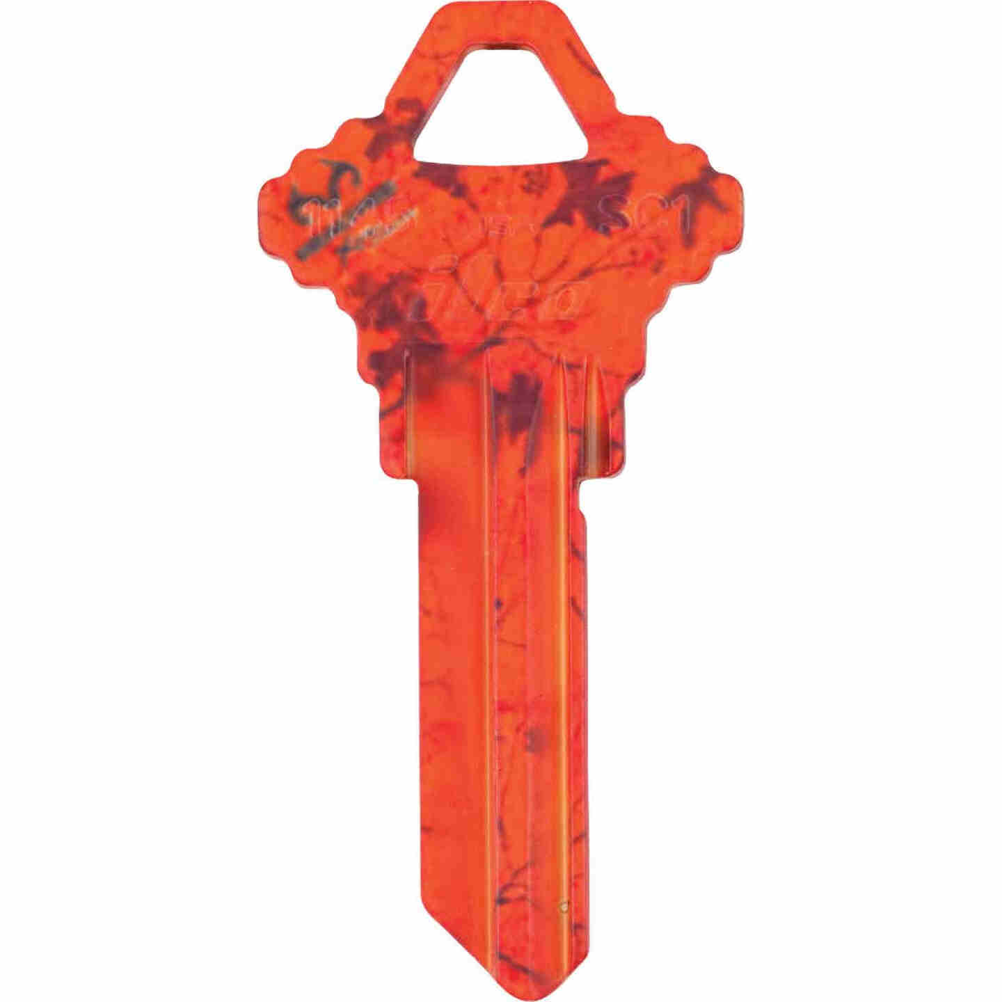 ILCO Schlage Realtree Blaze Orange Design Decorative Key, SC1  Image 1