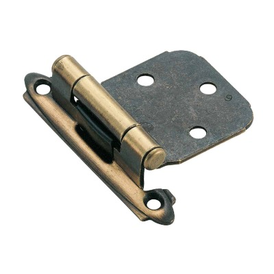 Amerock Antique Brass Self-Closing Variable Overlay Hinge (2-Pack)