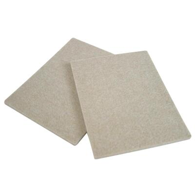 Magic Sliders 6 In. x 4-1/2 In. Oatmeal Felt Sheet,(2-Pack)