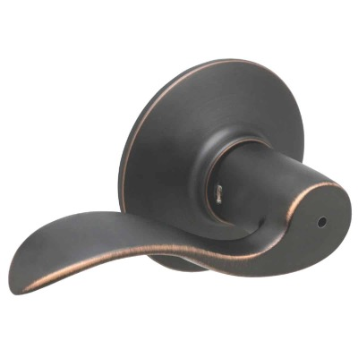Schlage Aged Bronze Accent Privacy Door Lever