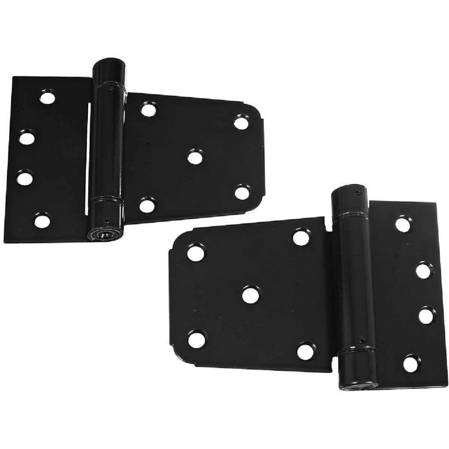 National 3-1/2 In. Black Heavy-Duty Gate Hinge Set (2 Count) Image 1