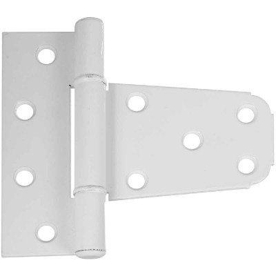 National 3-1/5 In. White Vinyl Fence Gate Hinge