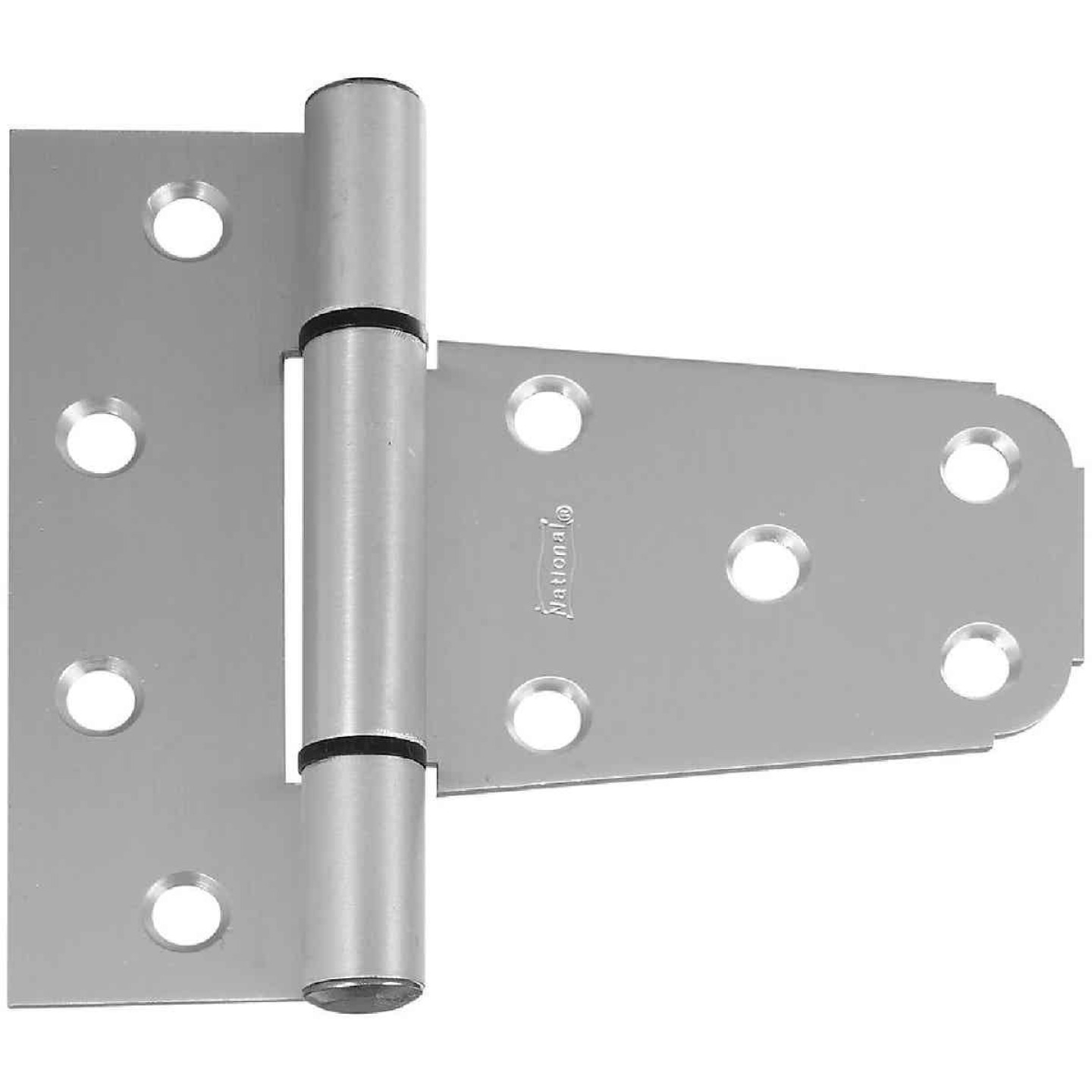National 3-1/2 In. Aluminum Vinyl Fence Gate Hinge Image 1
