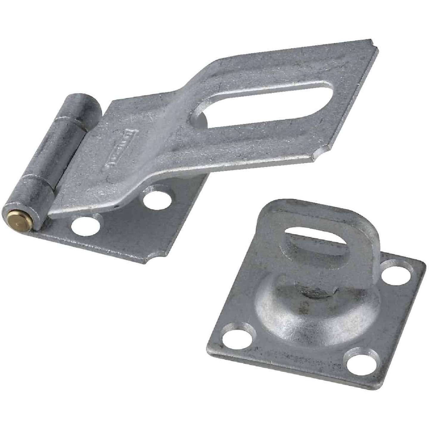 National 3-1/4 In. Galvanized Swivel Safety Hasp Image 1