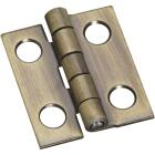 National 3/4 In. x 5/8 In. Antique Brass Narrow Decorative Hinge (2-Pack) Image 1