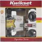Kwikset Signature Series Venetian Bronze Deadbolt and Lever Combo with Smartkey Image 3
