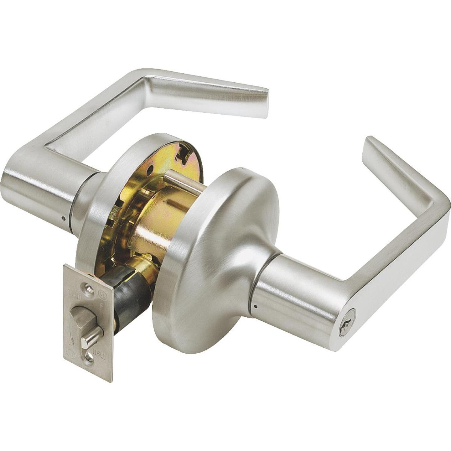 Tell Satin Chrome Entry Door Lever  Image 1