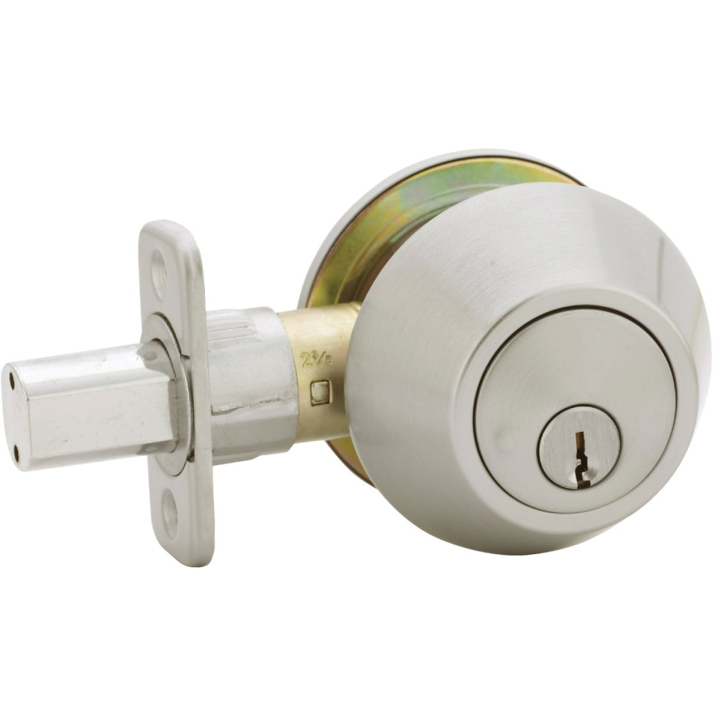 Steel Pro Satin Chrome Single Cylinder Deadbolt Image 3