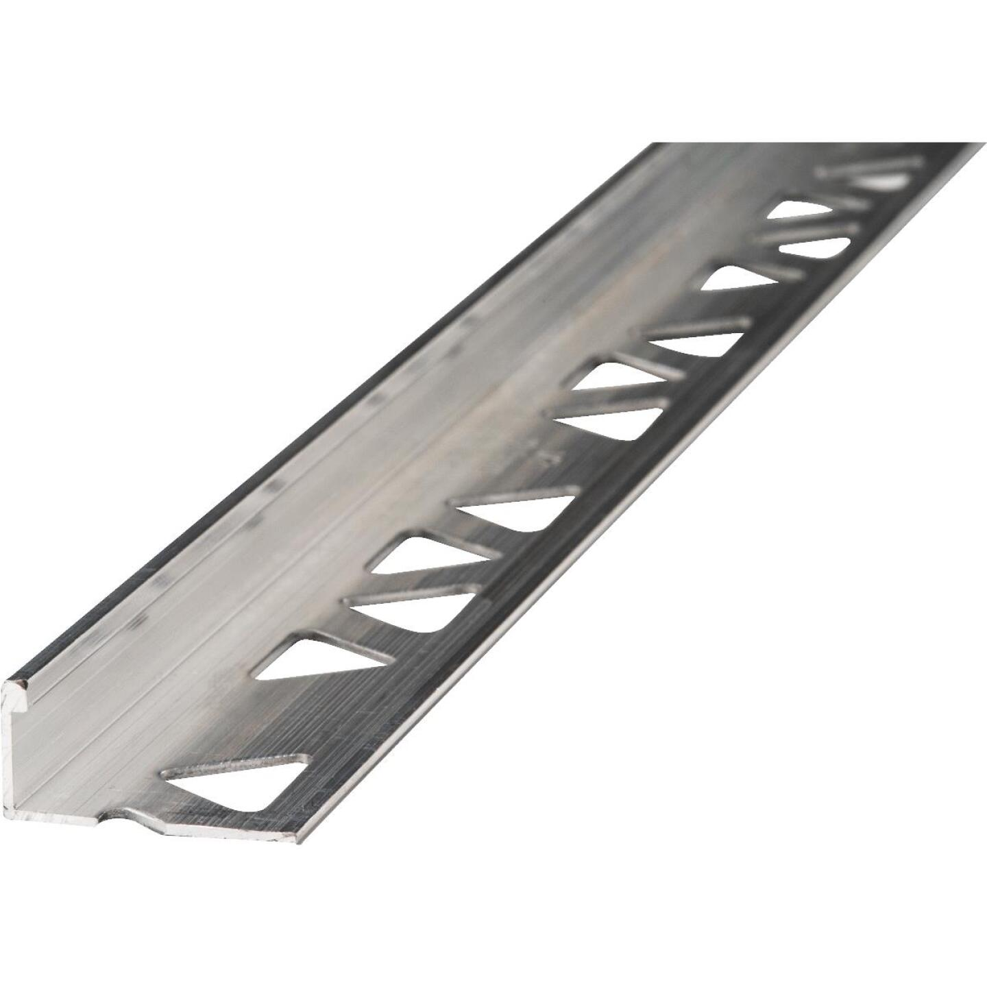 M D Building Products 1/2 In. x 8 Ft. Mill Aluminum L-Shape Ceramic Tile Edging Image 1