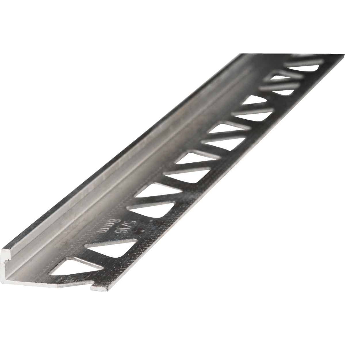 M D Building Products 5/16 In. x 8 Ft. Mill Aluminum L-Shape Ceramic Tile Edging Image 1