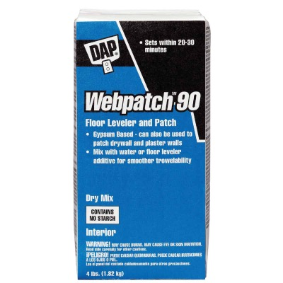 DAP Webpatch 90 Floor Leveler and Patch, Off White, 4 Lbs.