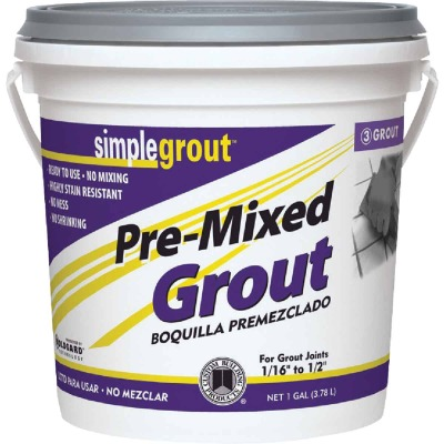 Custom Building Products Simplegrout Gallon Delorean Gray Sanded Tile Grout