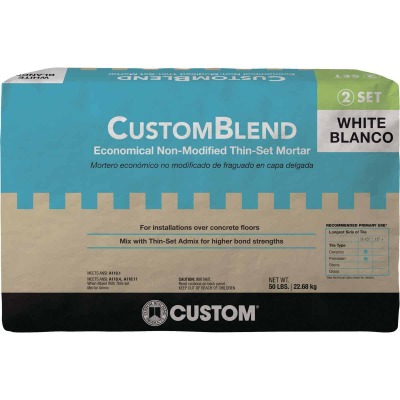 Custom-Blend 50 Lb. White Mortar Mix