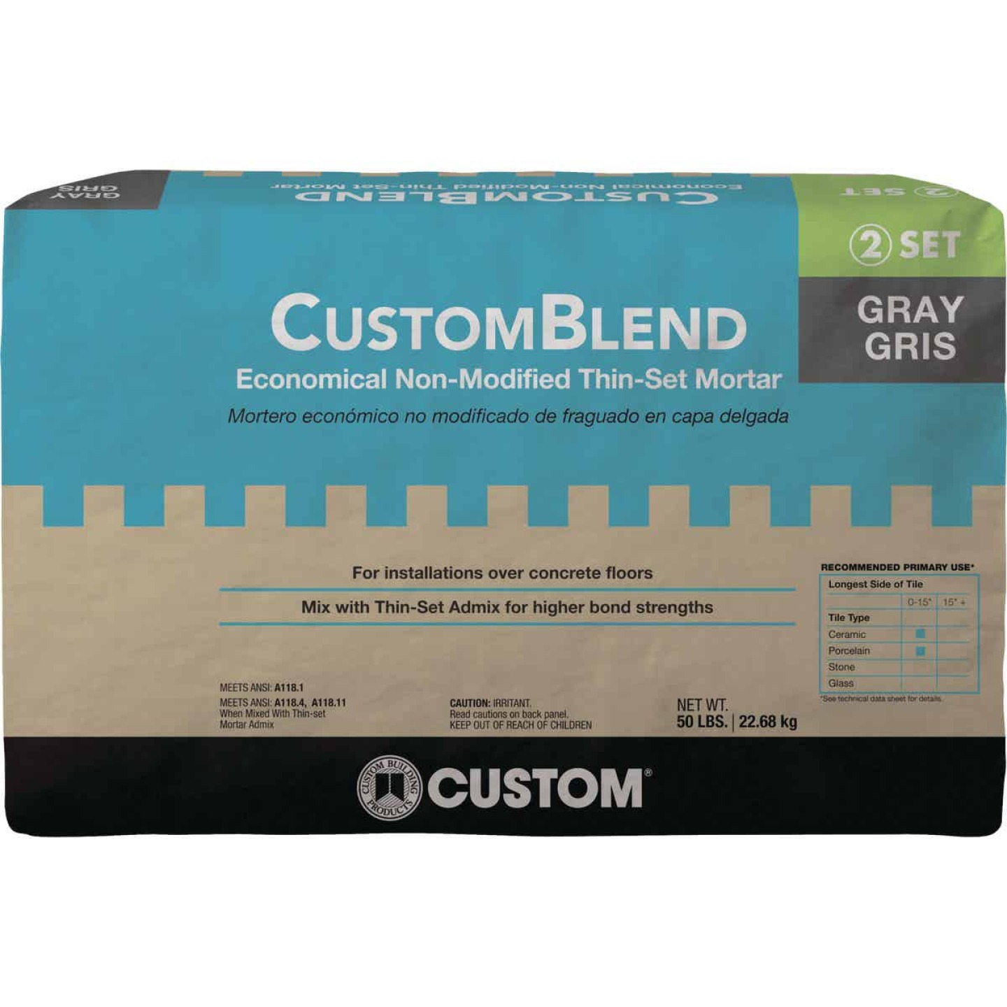 Custom-Blend 50 Lb. Gray Mortar Mix Image 1