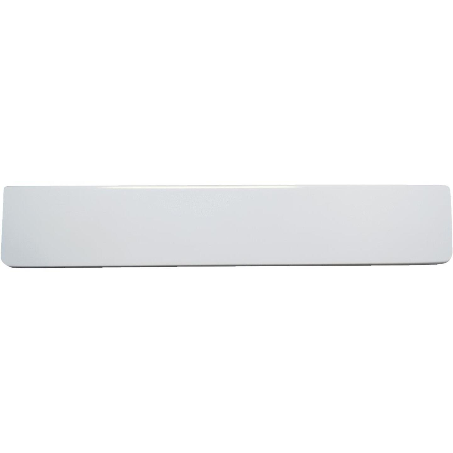 Modular Vanity Tops 4 In. H x 19 In. L Solid White Cultured Marble Side Splash, Universal Image 2