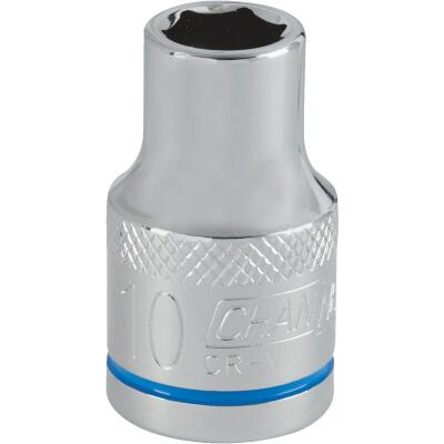 Channellock 1/2 In. Drive 10 mm 6-Point Shallow Metric Socket
