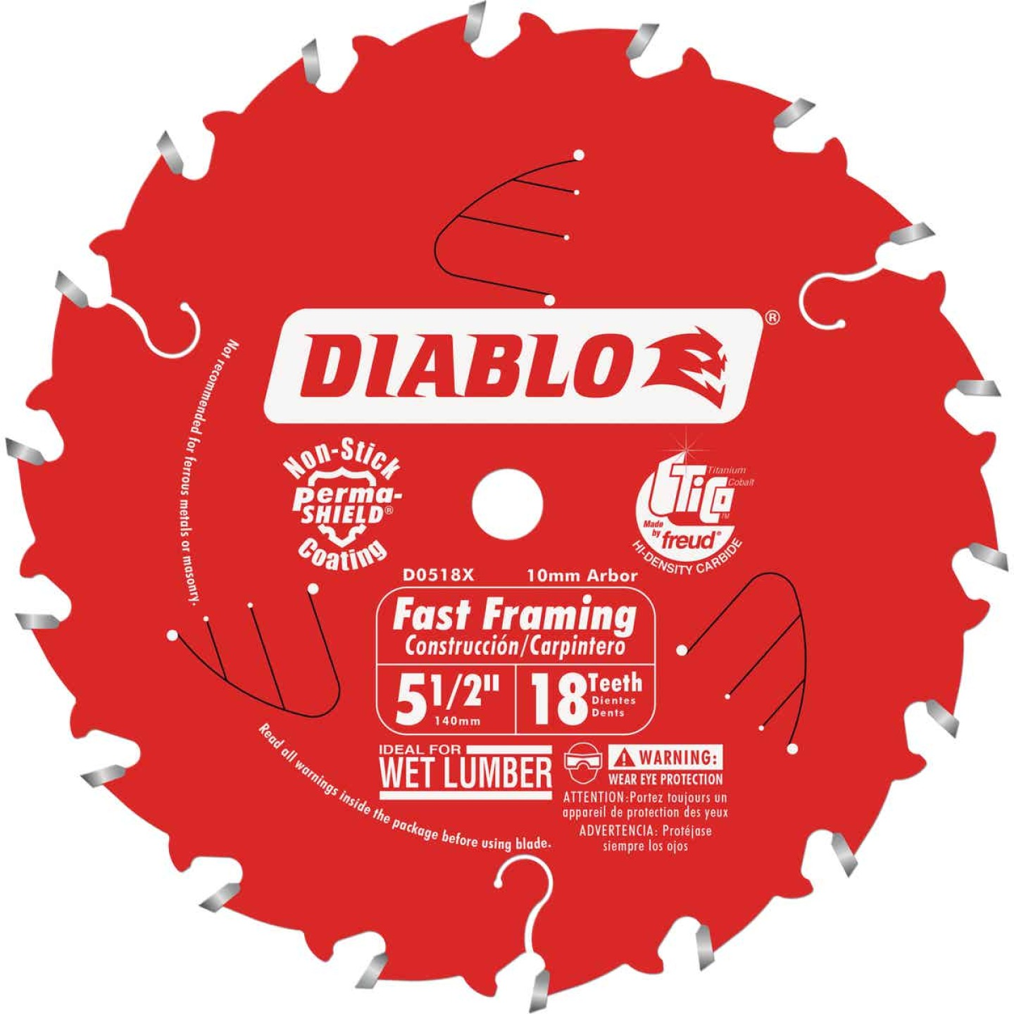 Diablo 5-1/2 In. 18-Tooth Fast Framing Circular Saw Blade with Bushings Image 1