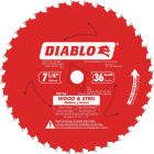 Diablo 7-1/4 In. 36-Tooth Wood & Metal Circular Saw Blade Image 1