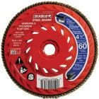 Diablo Steel Demon 4-1/2 In. x 5/8 In.-11 60-Grit Type 29 Angle Grinder Flap Disc with Hub Image 1