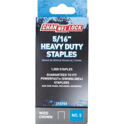 Channellock No. 5 Heavy-Duty Wide Crown Staple, 5/16 In. (1000-Pack)