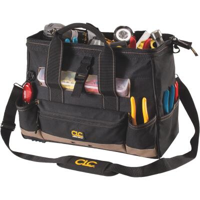 CLC 25-Pocket 16 In. Tool Bag with Top Side Tray