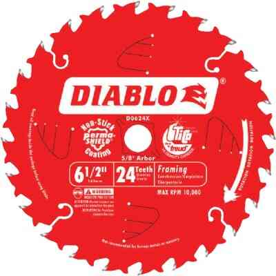 Diablo 6-1/2 In. 24-Tooth Framing Circular Saw Blade