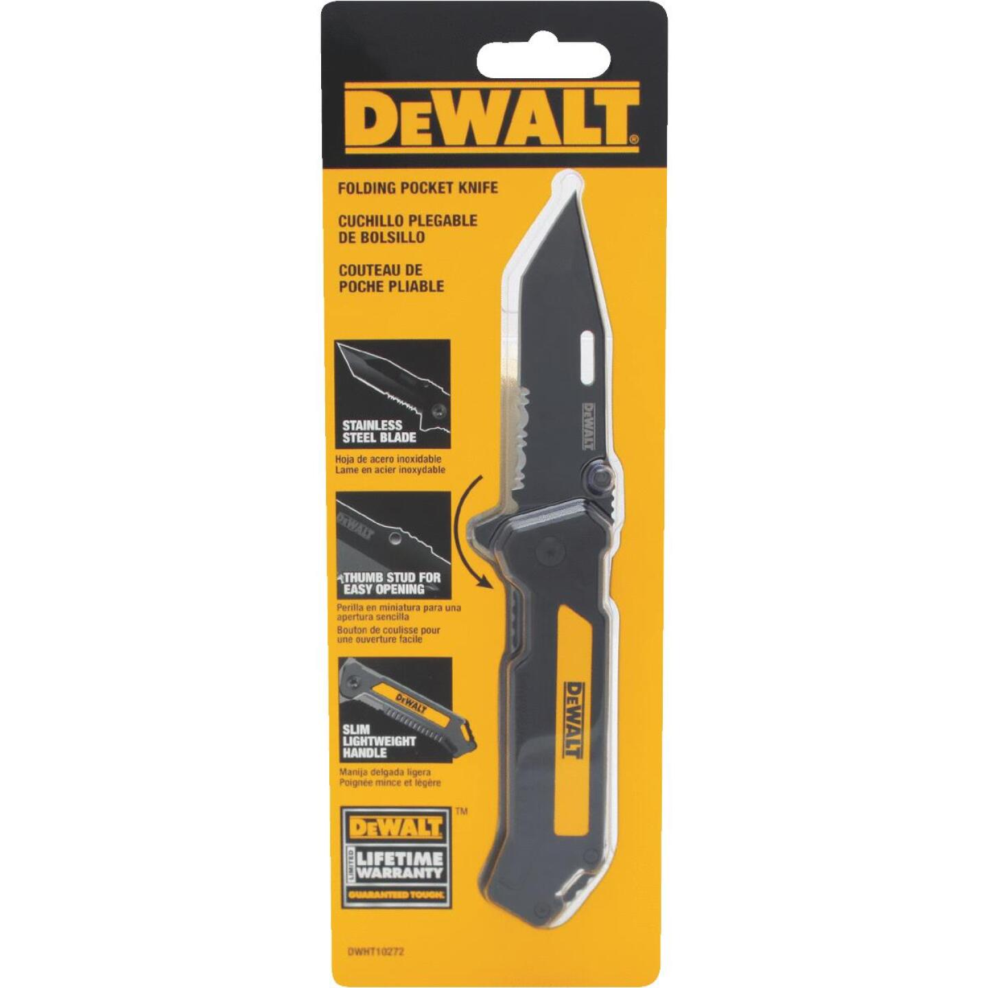 DeWalt 1-Blade 4-1/2 In. Folding Pocket Knife Image 2