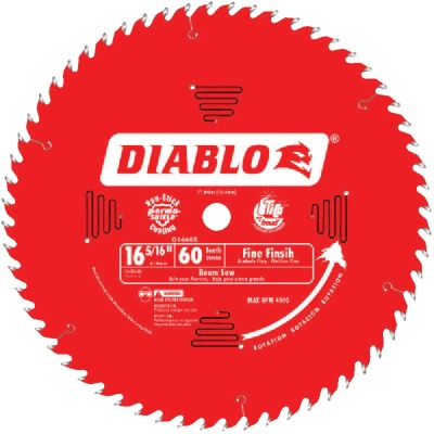 Diablo 16-5/16 In. 60-Tooth Fine Finish Beam Cutting Circular Saw Blade