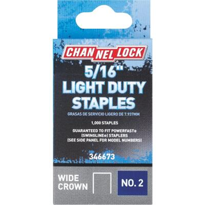 Channellock No. 2 Light Duty Wide Crown Staple, 5/16 In. (1000-Pack)