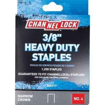Channellock No. 4 Heavy-Duty Narrow Crown Staple, 3/8 In. (1250-Pack)