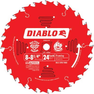 Diablo 8-1/4 In. 24-Tooth Framing Circular Saw Blade