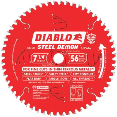 Diablo Steel Demon 7-1/4 In. 56-Tooth Thin Ferrous Metals Circular Saw Blade