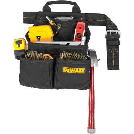 DeWalt 6-Pocket Nylon Framer's Nail & Tool Bag with Belt