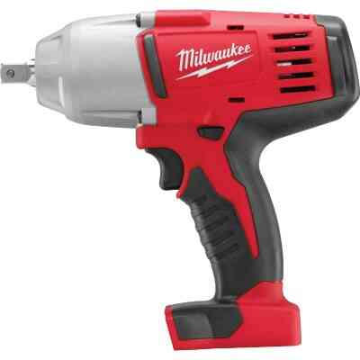 Milwaukee M18 18 Volt Lithium-Ion 1/2 In. High Torque Cordless Impact Wrench with Pin Detent (Bare Tool)
