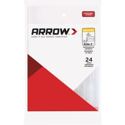 Arrow 4 In. Standard Clear Slow Set Hot Melt Glue (24-Pack)