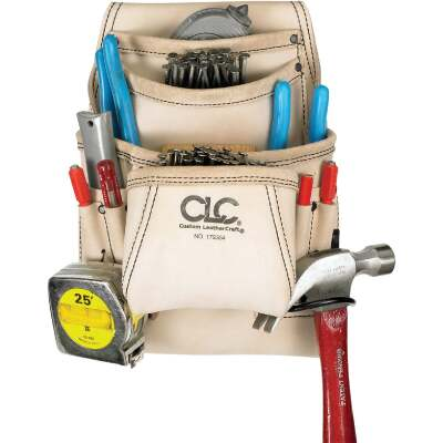 CLC 10-Pocket Leather Carpenter's Nail & Tool Bag
