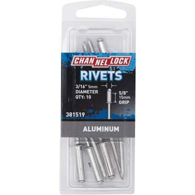 Channellock 3/16 In. Dia. x 5/8 In. Grip Aluminum POP Rivet (10-Pack)