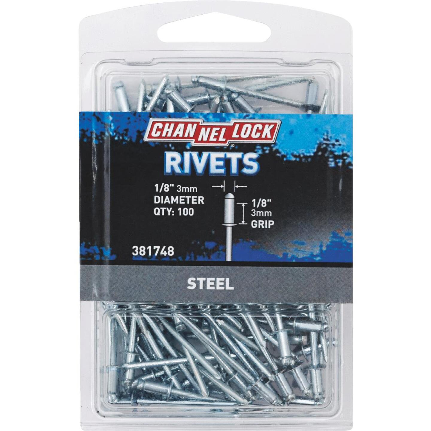 Channellock 1/8 In. Dia. x 1/8 In. Grip Steel Multigrip POP Rivet (100-Pack) Image 1