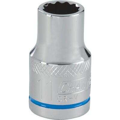 Channellock 1/2 In. Drive 11 mm 12-Point Shallow Metric Socket