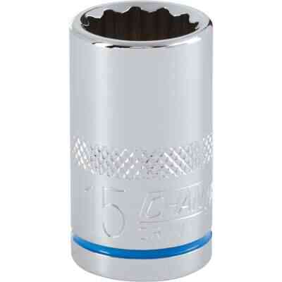 Channellock 1/2 In. Drive 15 mm 12-Point Shallow Metric Socket