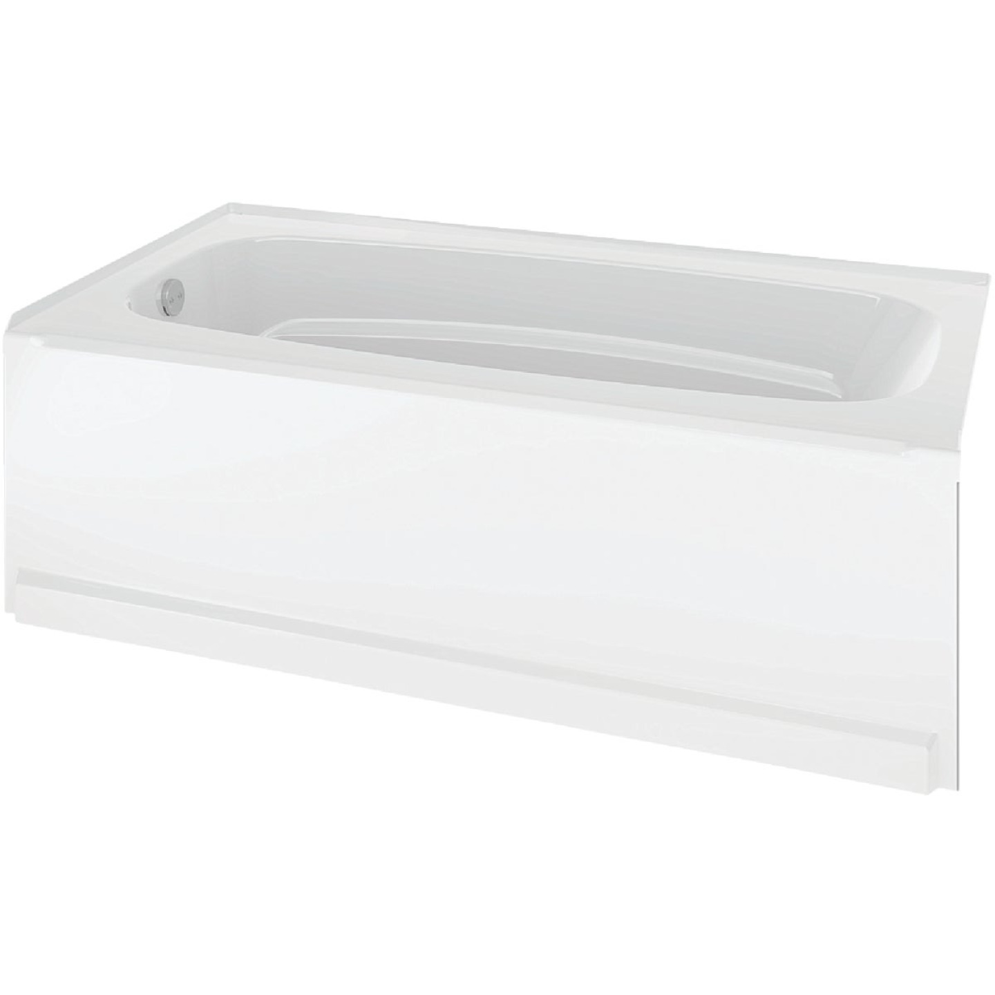 Delta Classic 400 60 In. L x 33 In. W x 18 In. D Left Drain Bathtub in White Image 1