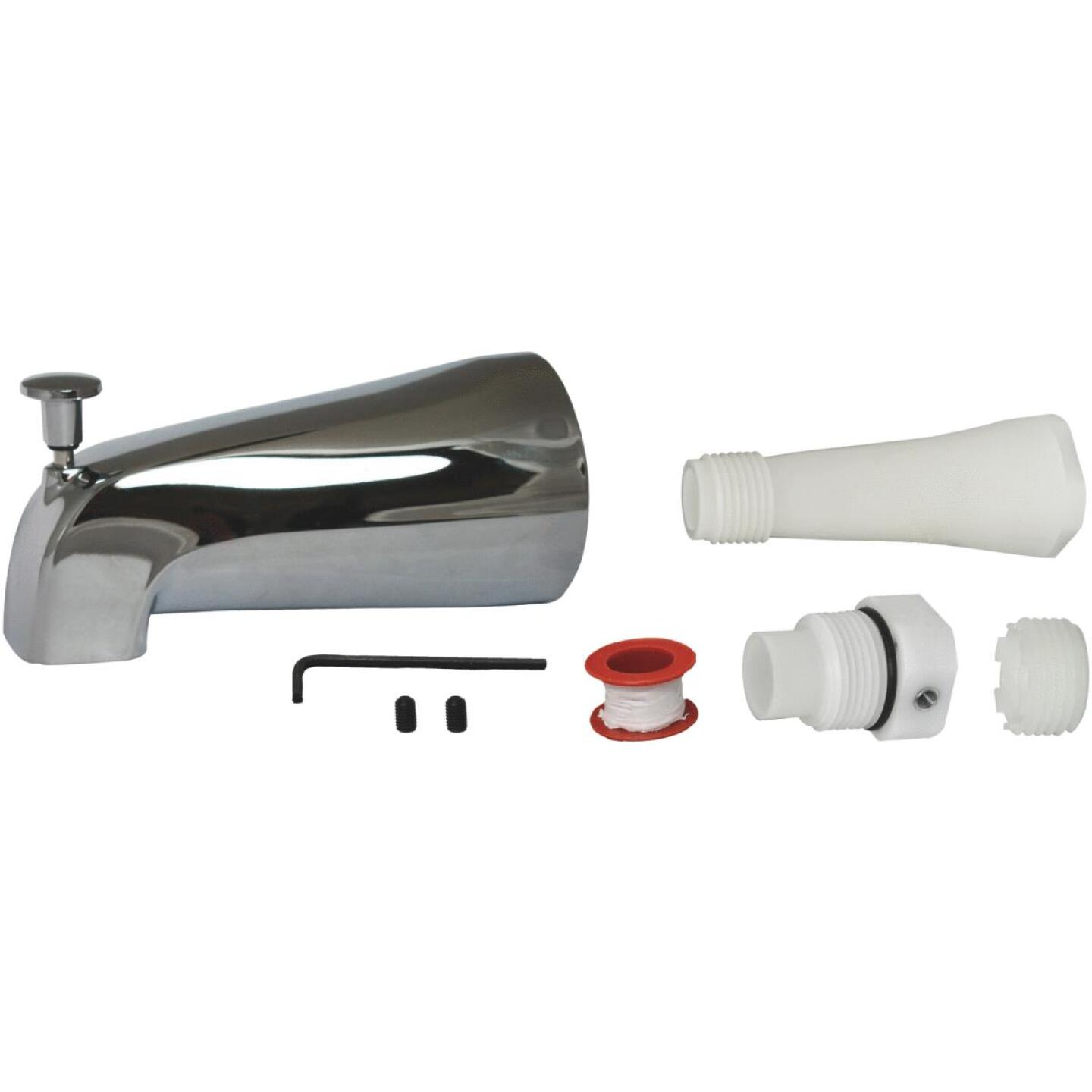 Do it Best Universal Fit Chrome Bathtub Spout with Diverter Image 1